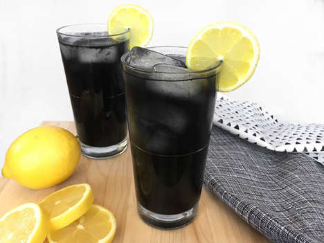 Charcoal-Based Lemonades - Black Lemonade is a Dark Twist on the Classic Summer Drink