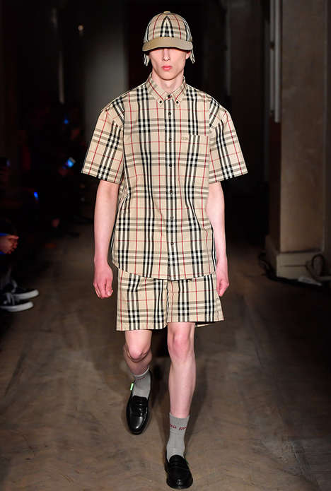 Remixed Heritage Apparel - The Gosha Rubchinskiy x Burberry Collaboration Features Sporty Undertones
