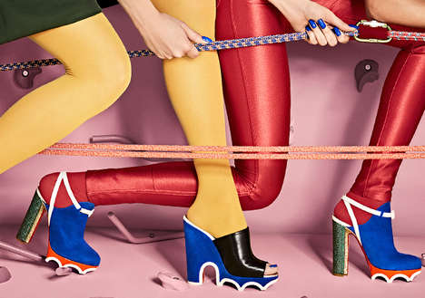 Architectural Statement Heels - Christian Louboutin's 'Loubi-Athlete' Shoes are Conceptually Bold