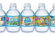Childlike Water Bottle Labels - Nestle Pure Life x Crayola Reveals Labels Designed by Children