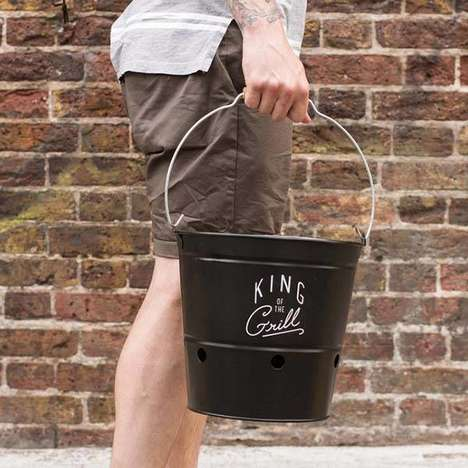 Portable Bucket Barbecues - The 'BBQ Bucket' Lets Your Grill Foods Anywhere You Go