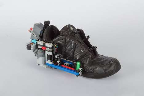 Lace-Tightening LEGO Machines - This DIY Lego Machine Will Tie Your Shoe Laces for You