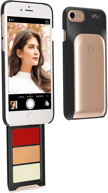 Cosmetic Phone Cases - The Pout Case Has a Built-In Slide-Out Drawer for Makeup