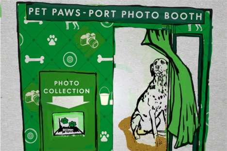 Pet-Friendly Photo Booths - More Than's 'Pet Paws-Port Photo Booth' Spotlights Travel with Pets