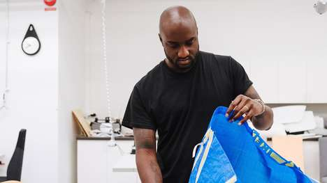 Millennial-Focused Furniture - The IKEA Virgil Abloh Collab Includes a Take on the Frakta Bag