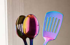 Iridescent Serving Utensils