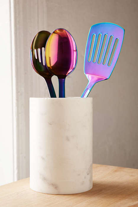 Iridescent Serving Utensils - These Urban Outfitters Kitchen Accessories Boast a Multi-Hued Design
