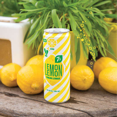 Cucumber Mint Lemonades - '7UP Lemon Lemon' is Sweetened with a Sugar-Stevia Blend