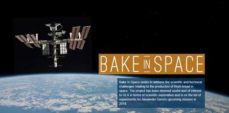 Extraterrestrial Baking Projects - 'Bake in Space' Aims to Give Astronauts Fresh Bread