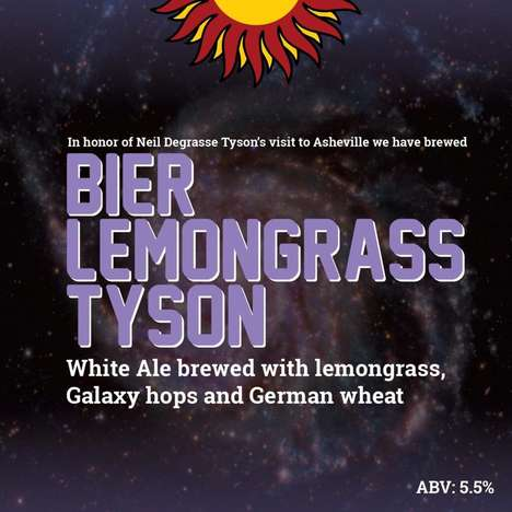 Astrophysicist-Honoring Beers - 'Bier LemonGrass Tyson' is Tailored for Neil DeGrasse Tyson