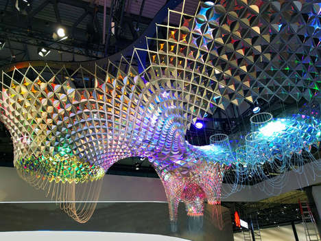 Robotic Architectural Sculptures - SOFTlab and IBM's Watson Created This Gaudi-Inspired Sculpture
