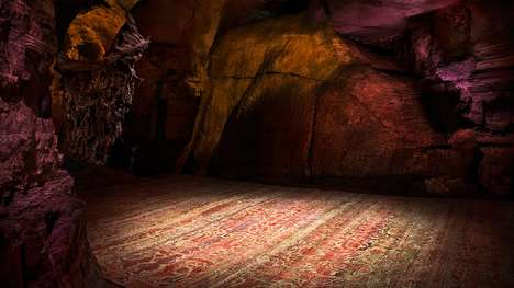 Underground Rug Editorials - ABC Carpet & Home Used a Cave as a Backdrop for its Carpet Collection