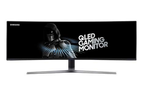 Immersive Gaming Monitors - The Samsung QLED Curved Gaming Monitor Has a 144Hz Refresh Rate
