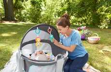 UV Protection Baby Beds - The Fisher-Price On-the-Go Baby Dome is Portable for Use Anywhere