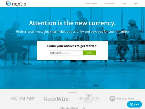 Monetary Attention Messaging Platforms - 'Nextio' Prompts People to Pay For Your Attention
