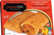 Indian Cuisine Toaster Snacks - Tandoor Chef's Pocket Sandwiches Take Inspiration from Street Food