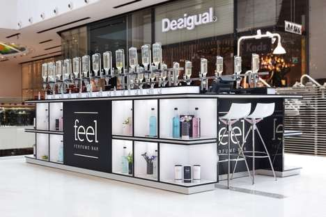 Apothecary-Style Fragrance Bars - The 'Feel' Perfume Kiosk Was Designed by Dana Shaked