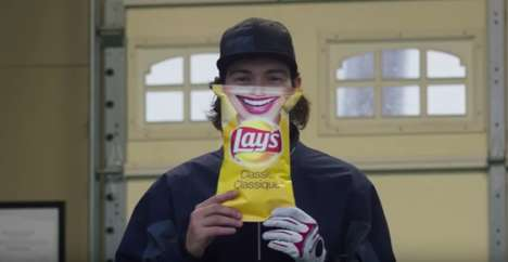Athlete-Endorsed Snack Ads - Hockey Player Drew Doughty Introduces the Lay's Smile Bag
