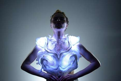 Illuminating Movement Trackers - Behnaz Farahi's 'Bodyscape' Fuses Fashion, Art and Technology