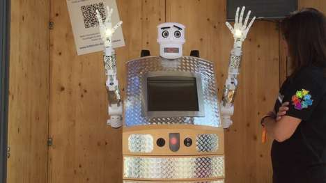 Religious Robot Installations - The BlessU-2 Robot Priest Uses AI to Bring Blessings to the Masses
