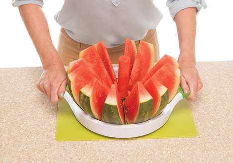 Melon-Segmenting Kitchen Tools - The Perfect Slicer Makes Quick Work of Watermelon and More