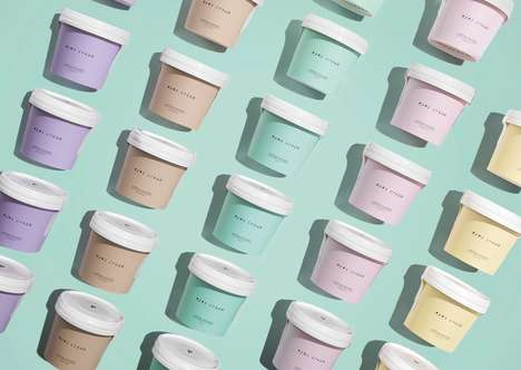 Ice Cream-Inspired Concealer Packaging - Eyes Cream is Featured in Tub-Like Packaging