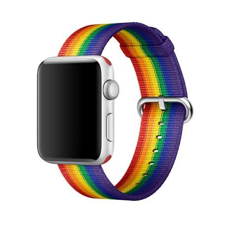 Rainbow-Striped Smartwatch Bands - Apple Debuted a New Rainbow Smartwatch Band for Pride Month