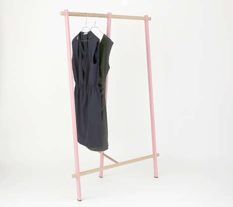 Pragmatic Coat Racks - Bezat Design Made a Coat Rack as an Affordable Sustainable Design