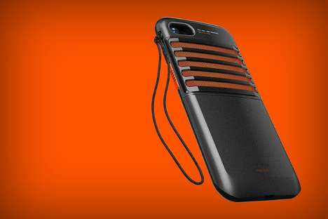 Conceptual Smartphone Radio Cases - The Walkie-Talkie iPhone Case Offers Communication and Power