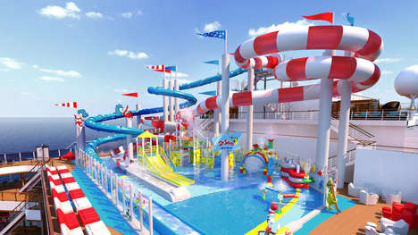Cruise Ship Water Parks - Dr. Seuss WaterWorks is a Whimsical Water Park Aboard the Carnival Horizon