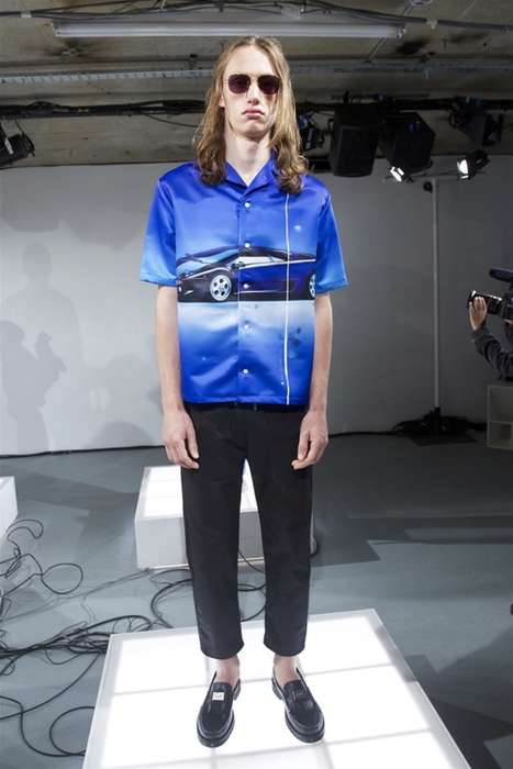 Masculine Supercar Fashion - The New Blood Brother Collection Features Retro and Futuristic Graphics