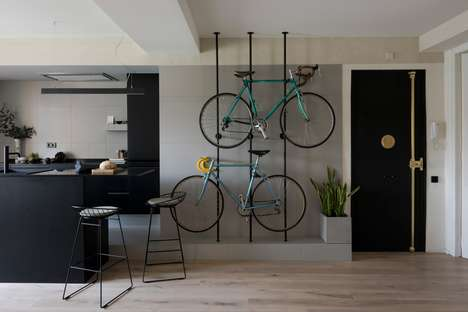 Bespoke Indoor Bicycle Racks - Colombo and Serboli Architecture Designed a Barcelona Apartment