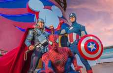 Disney Character Deck Parties - Disney Cruises' Marvel Day at Sea Brings Marvel Characters to Life