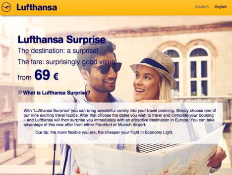 Spontaneous Flight Deals - Lufthansa Surprise Will Fly You to an Unknown Destination at a Discount