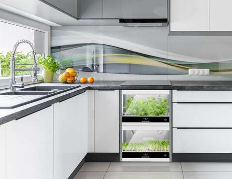 Veggie-Growing Kitchen Appliances - The 'Homefarm' Home Hydroponic Garden Grows Produce All Year