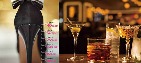 Shoe-Based Discount Nights - 'My Place' Bar in the Hilton Osaka is Offering Discounts for High Heels
