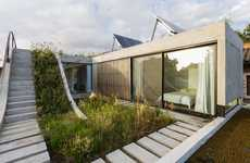 Ramping Rooftop Gardens - Bam! Arquitectura Designed a Buenos Aires Home with a Multi-Level Garden