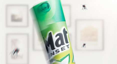 Bug-Killing Magazine Ads - Mat Inset Insecticide's Ad Encourages People to Swat at Flies with Paper
