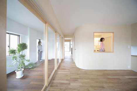 Transparent Room Partitions - Camp Design Renovated a Japanese Home to Emphasize Transparency