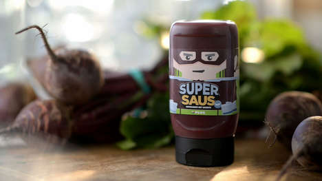 Heroic Vegetable Sauces - JWT's SuperSauce Aims to Promote Healthy Eating Among Children
