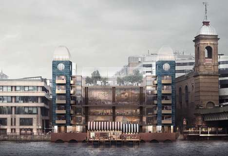 Conceptual Water-Powered Buildings - This Structure Would Be Powered by the Thames River's Movements