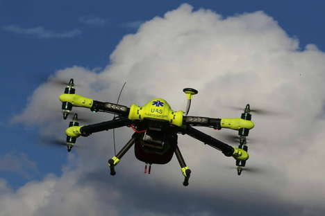 Death-Defying Defibrillator Drones - The Karolinska Institute is Developing a First Aid Drone