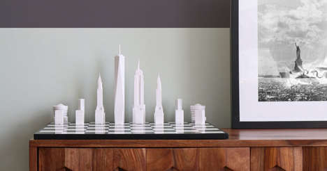 New York Chess Boards - Skyline Chess Has Designed a Chess Board With Famous NYC Buildings