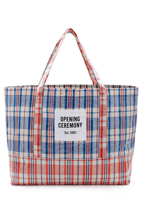 Designer Supermarket Totes - Opening Ceremony's Plaid Tote Bag is Available in Three Sizes