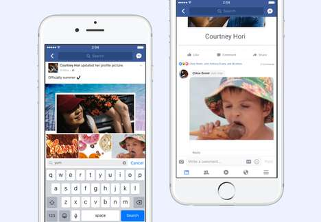 Social Media GIF Buttons - Facebook Has Added a Graphics Interchange Format Button to Comments