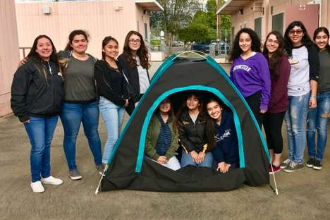 Solar-Powered Tents - Engineer Team 'DIY Girls' Designed a Solar-Powered Tent for the Homeless