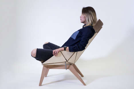 Flexible Geometric Seats - The 'Flex Chair' Shifts and Reclines to Offer the Ideal Level of Comfort