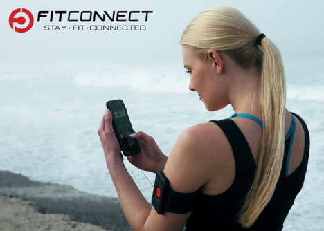 Magnetic Smartphone-Tethering Armbands - The 'FitConnect' Smartphone Fitness Armband is Secure