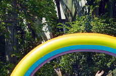 Rainbow Pool Floats