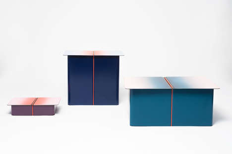 Gradient Storage Furniture - The LIGA Table Series Adds Storage Space to Any Home